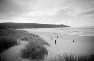 Exploring the wild beaches of Bruny island