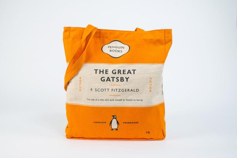 Penguin Book Cover Tote Bag ~ Five writing themed bags novel kicks