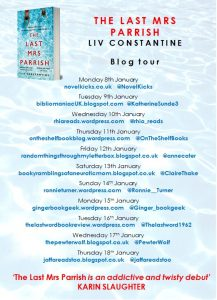 The Last Mrs Parrish blog tour banner