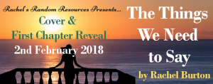 The Things We Need To Say Cover Reveal Banner