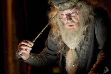Michael Gambon as Dumbledore in Harry Potter and the Goblet of Fire.