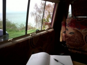 Isabel's writing spot