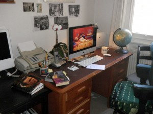 Gill's writing space.