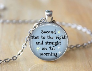Peterpan quote necklace