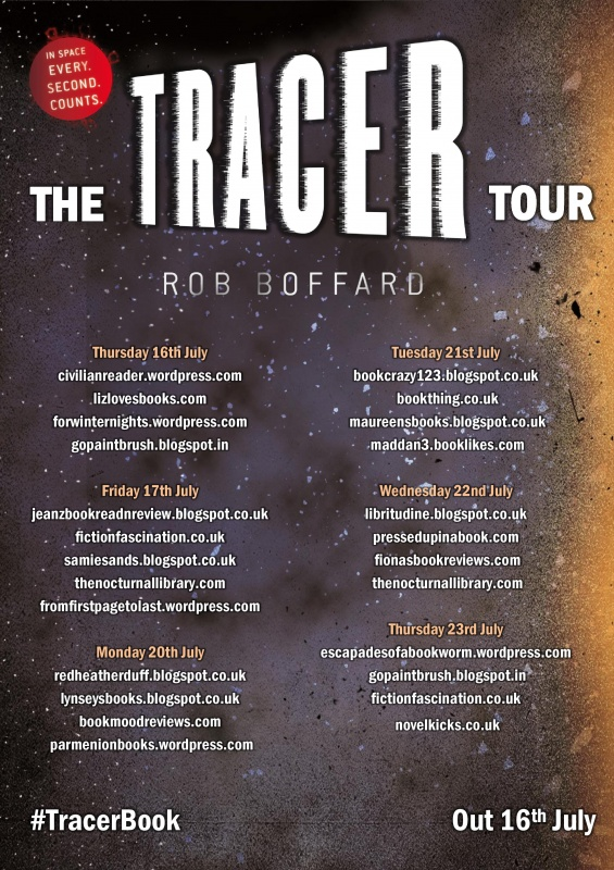 The Tracer blog tour poster