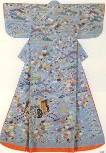 Gorgeous kimono worn by women of the Women's Palace