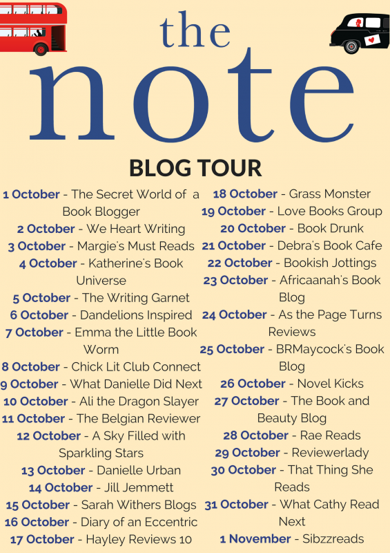 THE NOTE blog tour